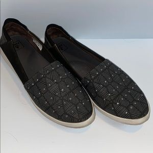 Reef flat shoes with studded women's 9 grey black